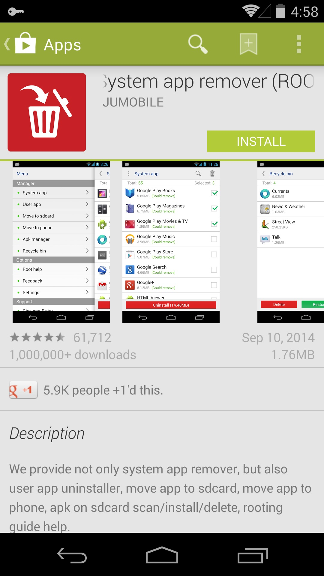 how to delete preinstalled apps on android