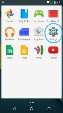 Android 5.0 Lollipop App Drawer