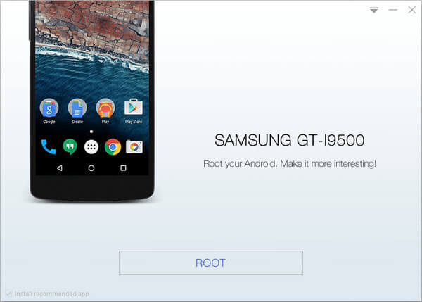 Root Samsung galaxy s4 gt-i9500 with KingoRoot, the best one-click Android root tool.