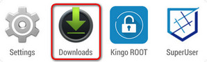 Encontrar KingoRoot.apk en la APP Descargas