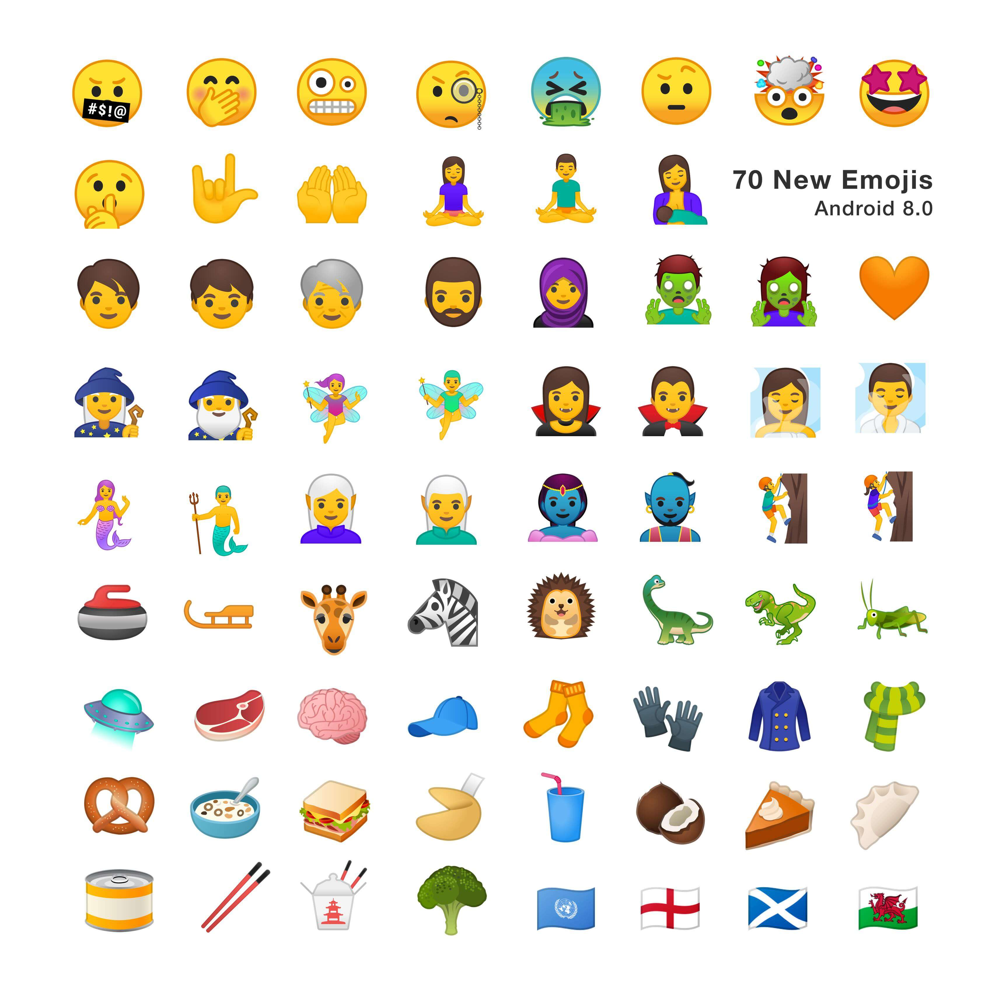 new emojis for android 8.0