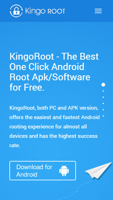 Root Android with KingoRoot apk, without connecting to PC