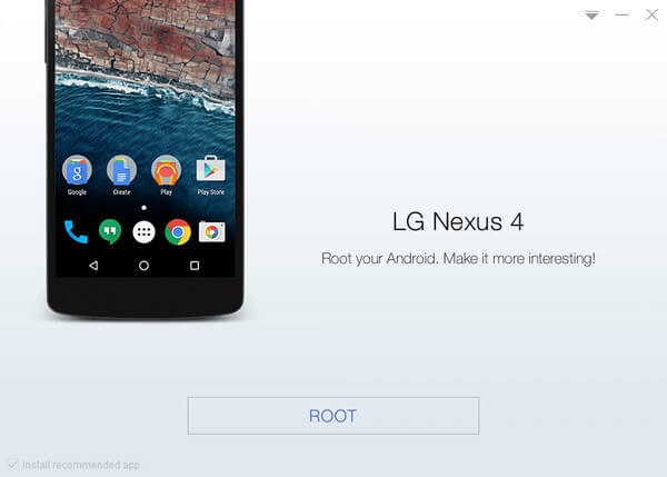 Root Google LG Nexus 4 device with KingoRoot, the best one-click Android root tool.
