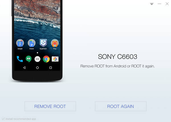 Root Sony C6603 with KingoRoot, the best one-click Android root tool.