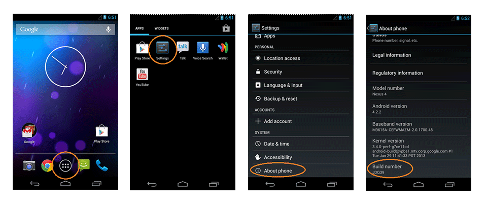 How to enable usb debugging mode on android 4.2.x and higher?