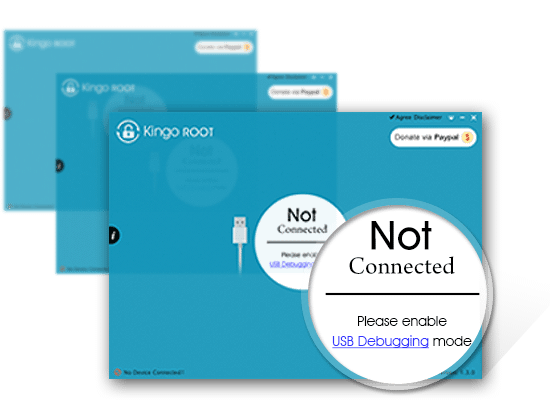Kingo Android Root interface with no device connected