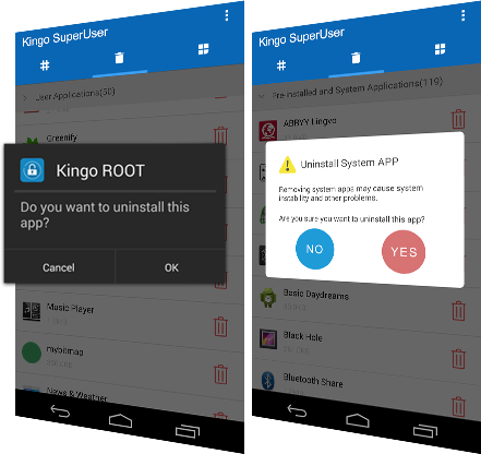 Kingo SuperUser/ SuperSU - Manage Root Permission for Rooted Android